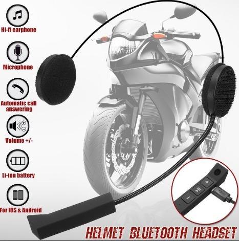 Fone Ouvido Microfone Capacete Moto Bike Bluetooth Motoboy