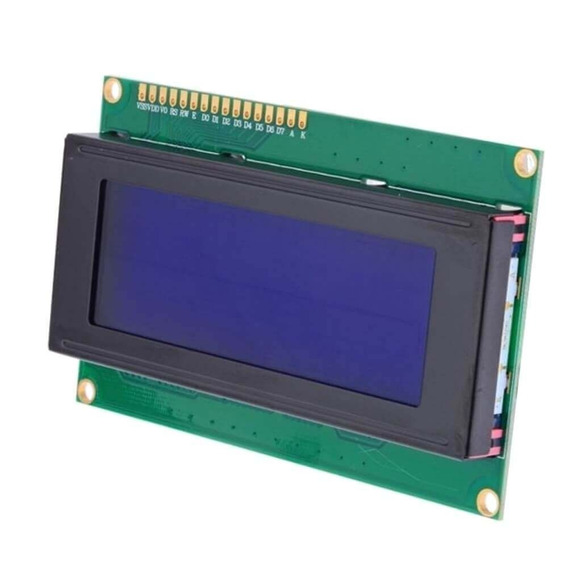 Display Lcd 20x4 2004 I2c Backlight Azul Escrita Branca