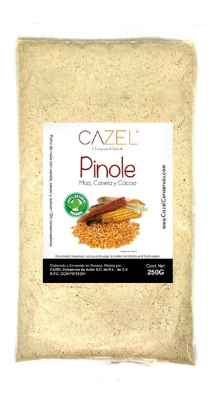 Pinole Tradicional Oaxaca Con Canela Y Cacao ¼kg Natural