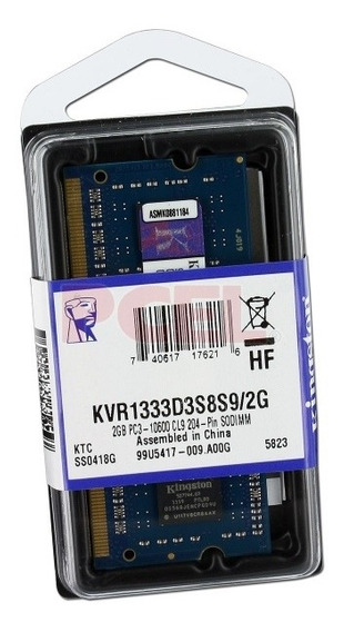 Ram Ddr3 2gb Notebook Kingston
