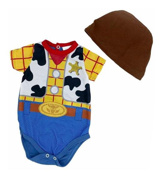 Pañalero Algodon Estampado Disney Woody Con Gorro