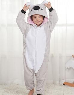 Pijama Mameluco Disfraz Koala Gris Entrega Inmediata
