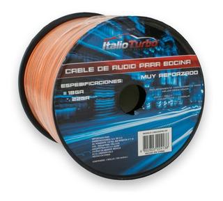 Rollo 100m Cable Audio Para Bocina Calibre 22awg Reforzado