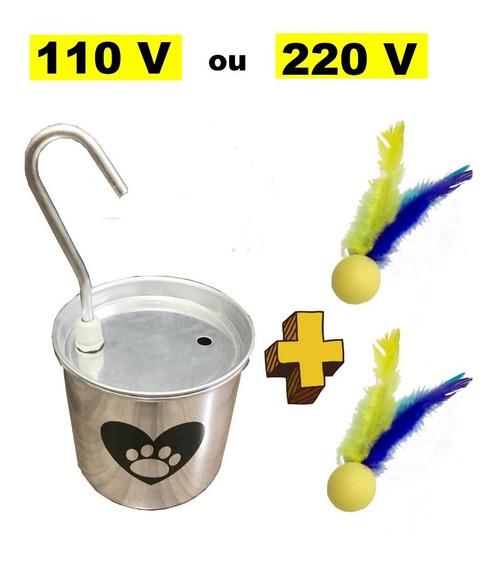 Bebedouro Fonte Gatos Alumínio 2,5 Litros 110v + 2 Petecat
