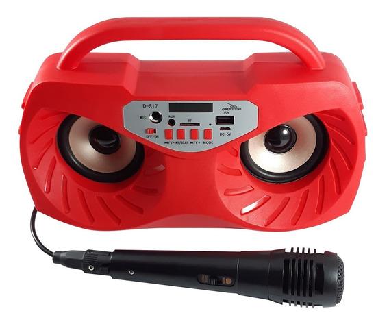 Caixa De Som Bluetooth Potatil Grasep D-s17 Vermelho