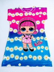 Kit 6 Vestido Infantil Lol Monica Sofia Moanna Frozen 2 Ao 6