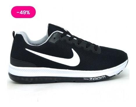 Tênis Nike Masculino, Promoção Zoom Racer Preto E Branco