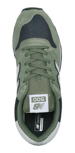 Tenis New Balance 500 Classic Verde Olivo Deportivo Hombre