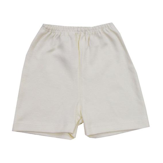 Shorts Liso Com Barra Creme Neutro Bicho Molhado