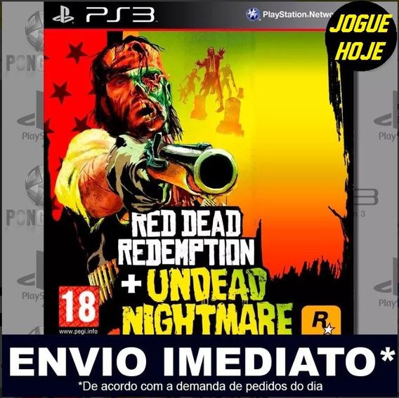 Undead Nightmare Ps3 + Red Dead Redemption Mídia Digital Psn