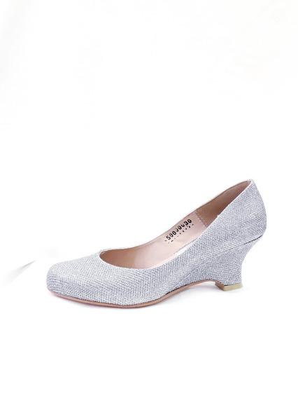 500 Zapato Liz Guerrero Alfa Plata O Negro 5cm