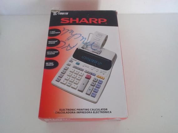 Calculadora Eletrônica 120v Sharp El-1801v (c/ Caixa) Usada