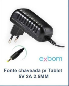 Fonte Chaveada P/ Tablet 5v 2a 2.5mm