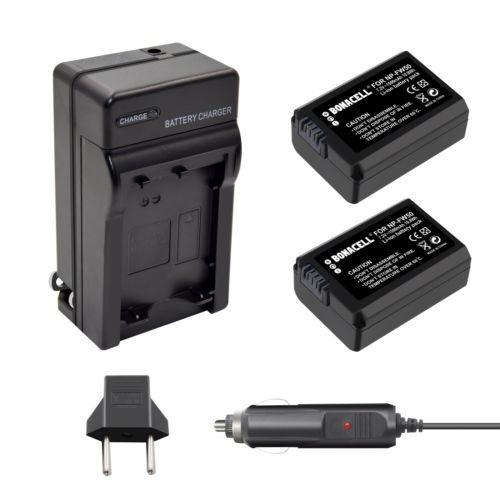 Imagen 1 de 5 de 2 X Batería + Cargador De Np-fw50 Para Sony A6300 A6000 A300