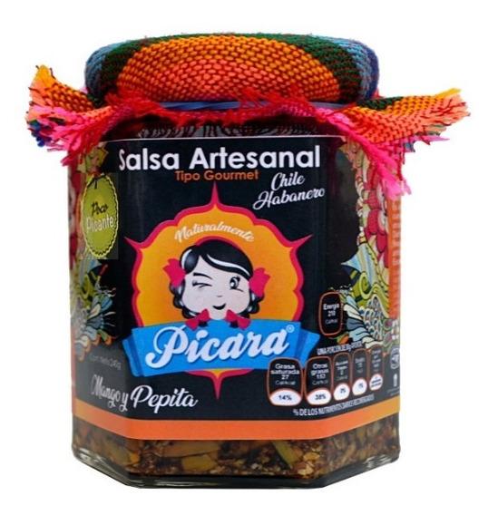 Salsa Habanero Artesanal Gourmet Mango Y Pepita Pocopicante