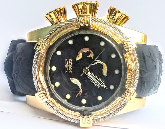 Relógio Masculino Dourado Grande P1