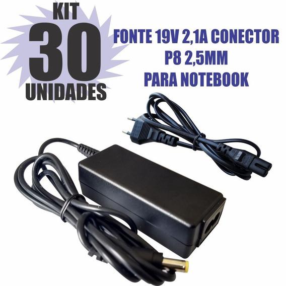 Kit 30 Peças Fonte Carregador 19v 2.1a Notebook