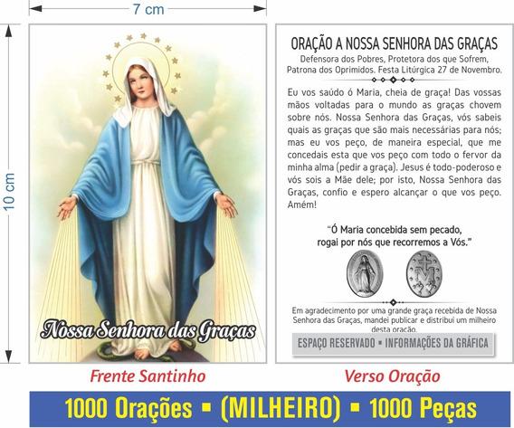 Nossa Senhora Das Graças (500 Santinhos Oração)