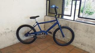 Bicicleta Bmx Azul Rodado 20 Para Nenes Lista Para Usar