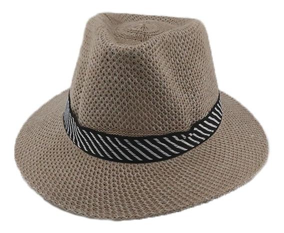 Sombrero Simil Panama C/cinta Adultos Unisex Art. 29170083c