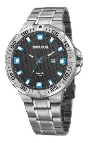 Relógio Masculino Seculus 20757g0svna1 Casual Prateado