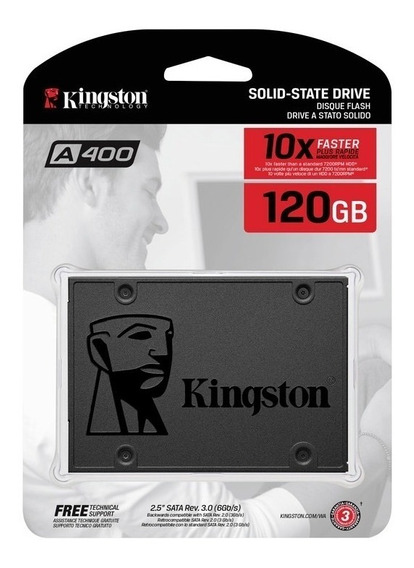 Hd Ssd 120 Gb Sata 3 Kingston A400 500 Mb/s (10x + Rápido)