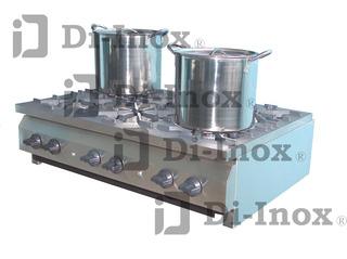 Estufa De Acero Inox T-304 6 Quemadores Nueva