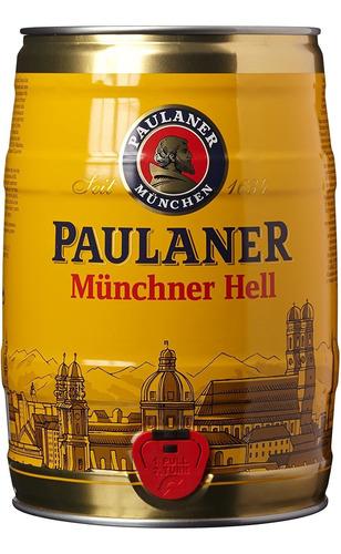 Imagem 1 de 2 de Barril Cerveja Paulaner Munchner Hell 5litros