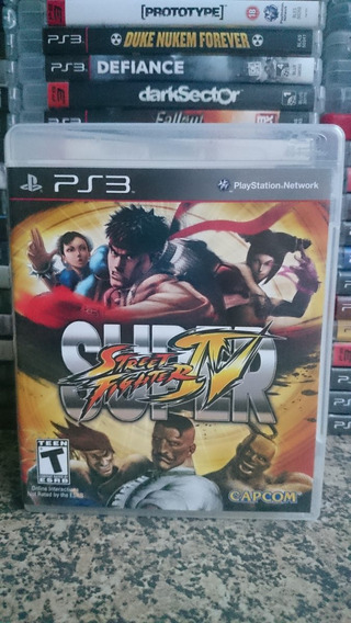 Super Street Fighter Iv 4 Ps3 Fisica Frete R$10