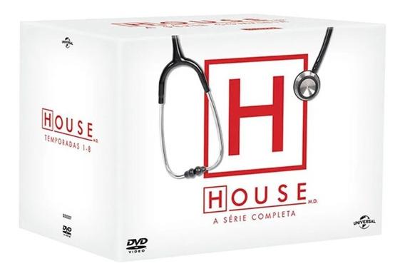 Coleção Box Dvd Dr House 1ª A 8ª Temporada 46 Discos Lacrado