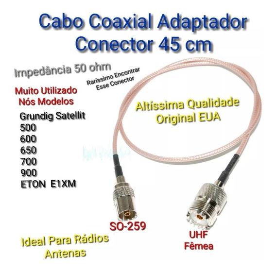 Rádios Adaptador Conector Antena Externa Grundig E Eton E1xm