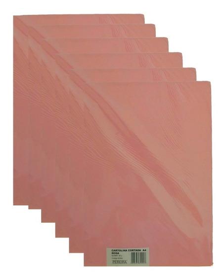 Kit 10 Pct Cartolina Cortada A4 Rosa-claro 500 Fls -pereira