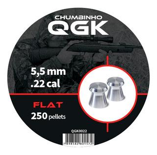 Chumbinho Qgk Flat 5,5mm 250 Unidades