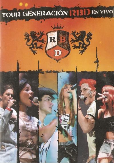Dvd Rbd - Tour Generación En Vivo - Usado Em Bom Estado***