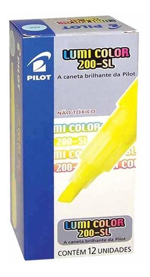 Caneta Marca Texto Lumicolor Amarela / 12un / Pilot