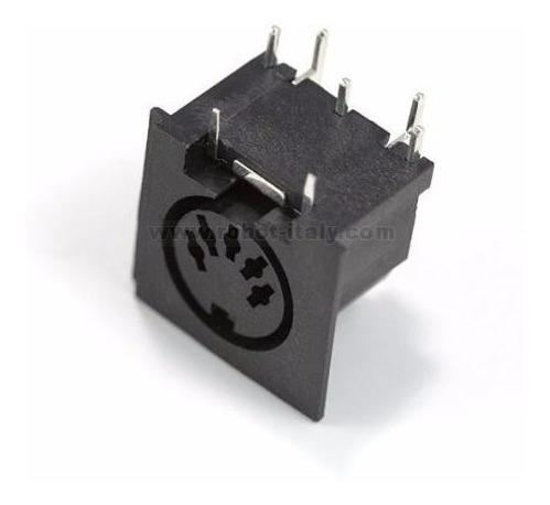 Jak Conector Midi Tipo Dim Pcb 5 Pinos Envio Imediato