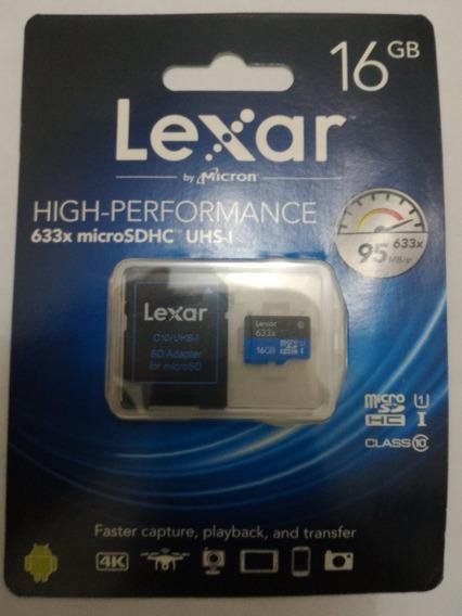 Lexar Micro Sd 16gb 633x Pronta Entrega