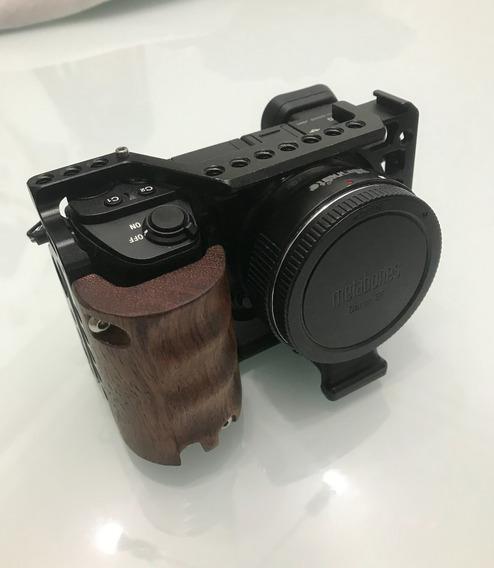 Sony A6500 + Commlite + Cage + Baterias Originais