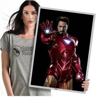 Heróis Da Marvel Homem De Ferro Poster Grande 60x42cm 03
