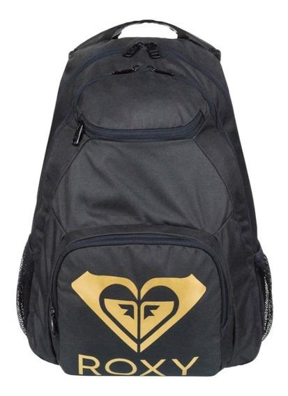 Mochila Roxy Shadow Swell Negro-dorado Mujer Niña Laptop