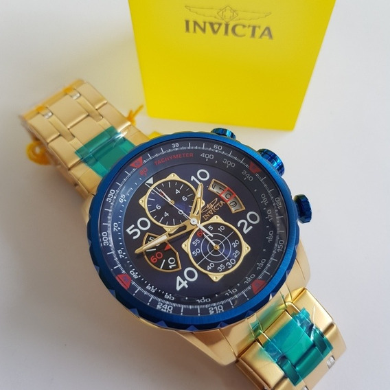 Relógio Invicta Aviator 19173 Original B.ouro C Brinde