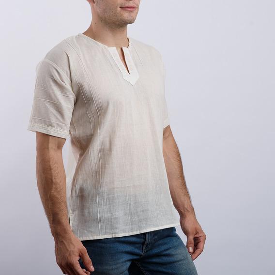 Camisa Unisex De Manta Manga Corta Con Grecas