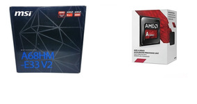 Kit Upgrade Placa Mãe Msi Fm2 + Processador Amd A6 7480 R5
