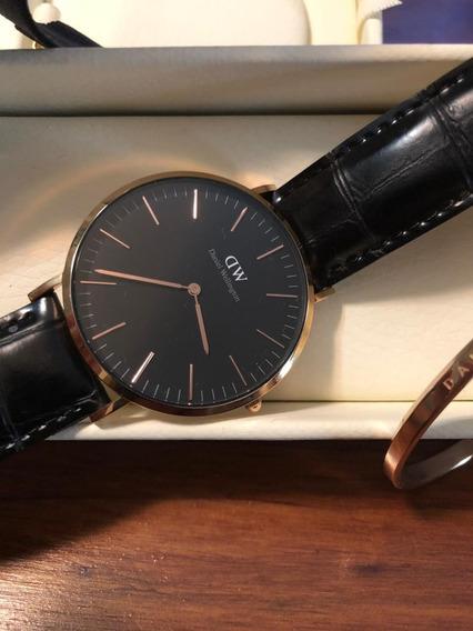 Relógio Daniel Wellington + Bracelete + Correia