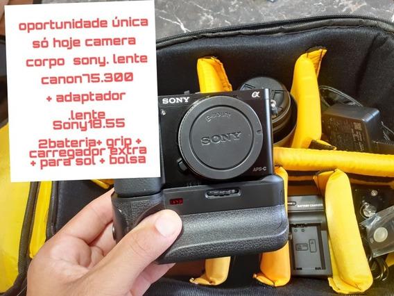 Sony A6000 , 2 Meses De Uso + 2 Lentes + Adaptador + Grip+b