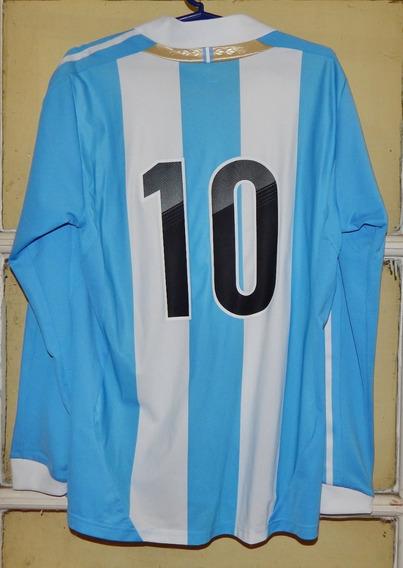 Camiseta Argentina 2011/12 Formotion #10 Messi Eliminatorias