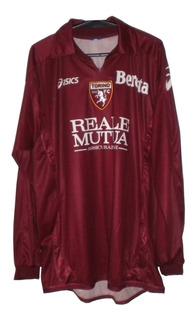 Camisa Torino 2008 P. Zanetti N. 27 Asics Manga Longa