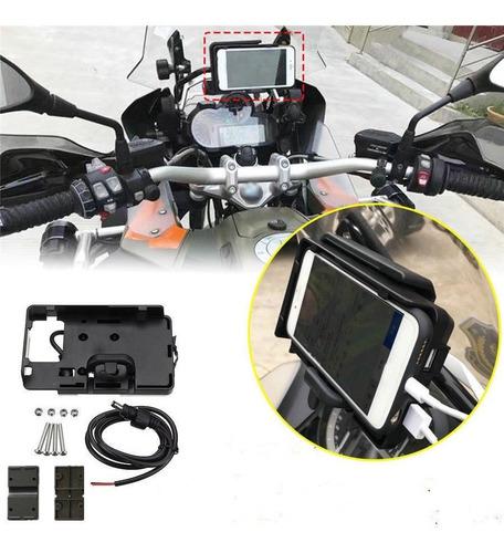 Imagen 1 de 10 de Soporte Celular Moto Bmw R1200gs 2 Puertos Usb 3.1 Amp