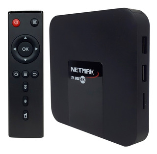 Convertidor Tv Box Nemak 4k 16gb Rom 2.4ghz Smart Android Tv Box Netflix Series + Control