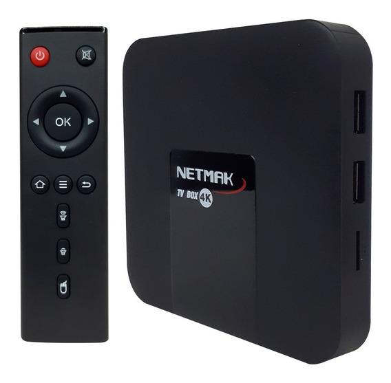 Convertidor Tv Box Nemak 4k 16gb Rom 2.4ghz Smart Android Tv Box Netflix Series + Control